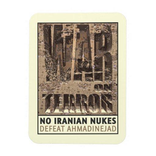 No Iranian Nukes Vinyl Magnets