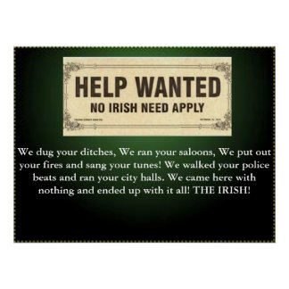 no irish need apply poster