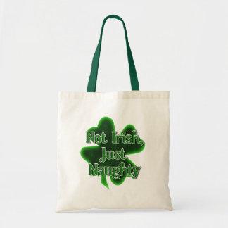 No irlandés, apenas travieso bolsa lienzo