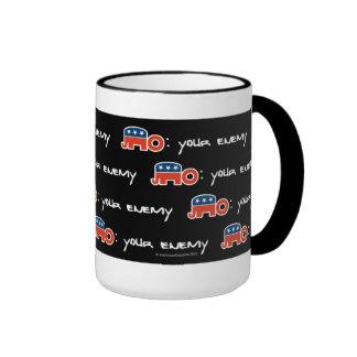 No (is) Your Enemy (black bkgr) Ringer Mug