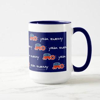 No (is) Your Enemy (blue bkgr) Mug