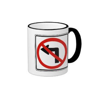 No izquierdo taza de café