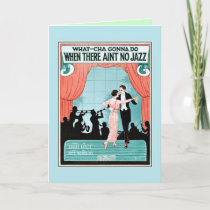 No Jazz 1920s jazz age vintage sheet music cover Card