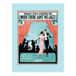 No Jazz 1920s jazz age vintage sheet music cover Post Cards