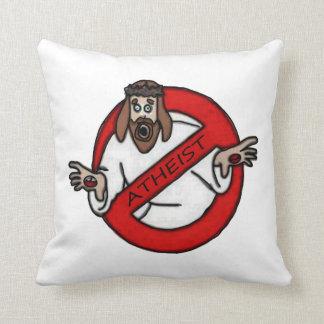No Jesus - Atheist Throw Pillow