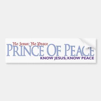 No Jesus, No peace Car Bumper Sticker