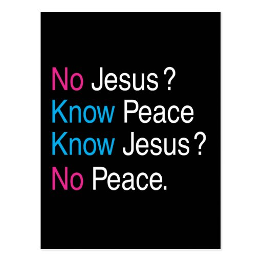 No Jesus Postcard