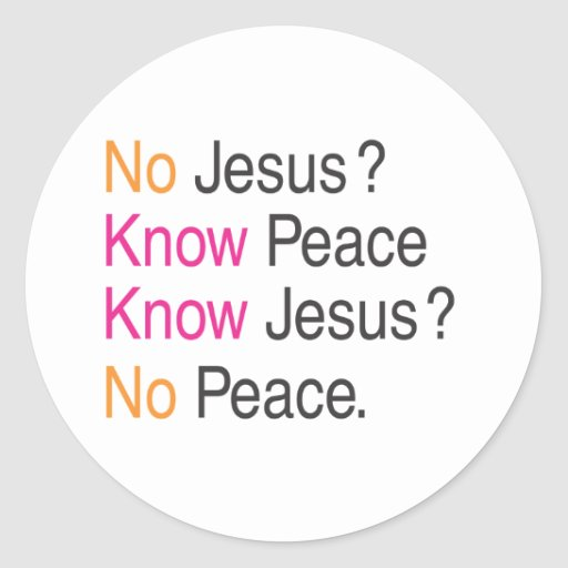 No Jesus Round Stickers