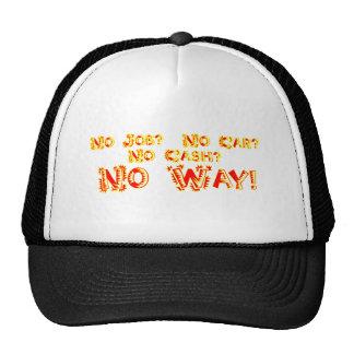 No Job?  No Car?  No Cash?  NO WAY! Trucker Hat