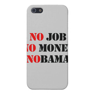 NO JOB NOBAMA red Covers For iPhone 5