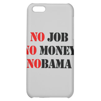 NO JOB NOBAMA red Case For iPhone 5C
