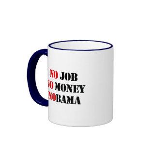 NO JOB NOBAMA red Mugs
