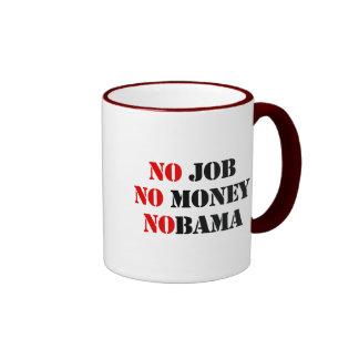 NO JOB NOBAMA red Coffee Mugs