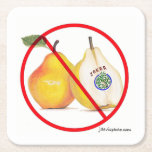 "No Jokers with Pears Coasters<br><div class=""desc"">A kind reminder of an important rule.</div>"