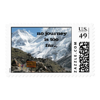 No journey is too far… postage stamp
