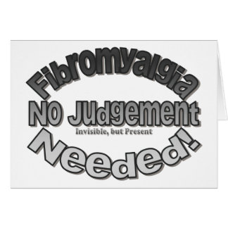 No Judgment Needed! Card