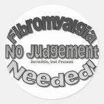 No Judgment Needed! Classic Round Sticker