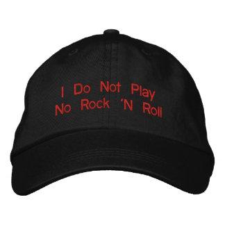 """""""No juego ningún rock-and-roll - gorra ajustable Gorra De Beisbol"""