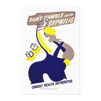 No juegue con sífilis impresión en tela