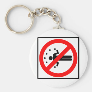 No Juggling Highway Sign Keychain