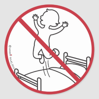 No Jumping on the Bed! Stickers