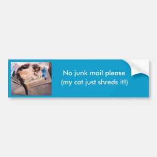 No junk mail please bumper sticker