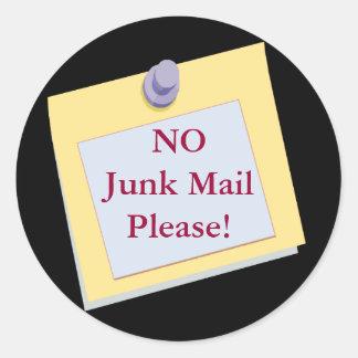 NO Junk Mail Please Sticker