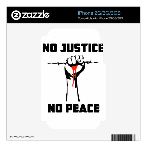 """""""No Justice, No Peace"""" Decals For The iPhone 3GS"""