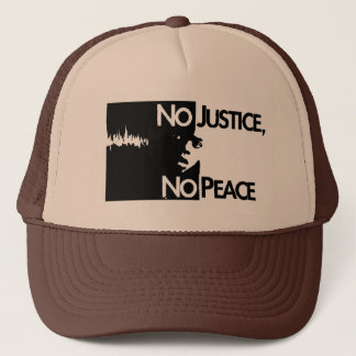 no-justice-no-peace trucker hat