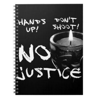 No Justice Photo Notebook (80 Pages B&W)
