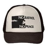 no-justicia-ninguno-paz gorro de camionero