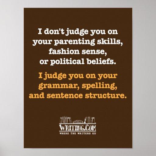 No juzgo póster