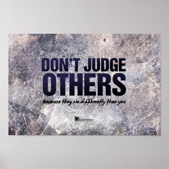 No juzgue otros póster
