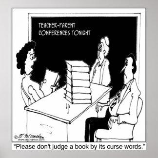 No juzgue un libro por él es palabras de maldición poster
