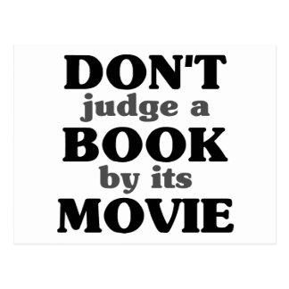 No juzgue un libro por su película tarjeta postal