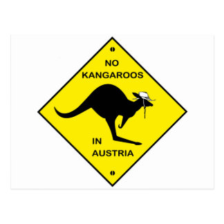 No kangaroos in Austria Post Cards