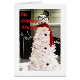 NO KIDDING AROUND U R MISSED AT CHRISTMAS FRIENDS CARD