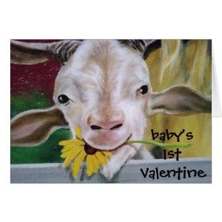 """NO KIDDING BABY-HAPPY 1ST VALENTINE CARD"
