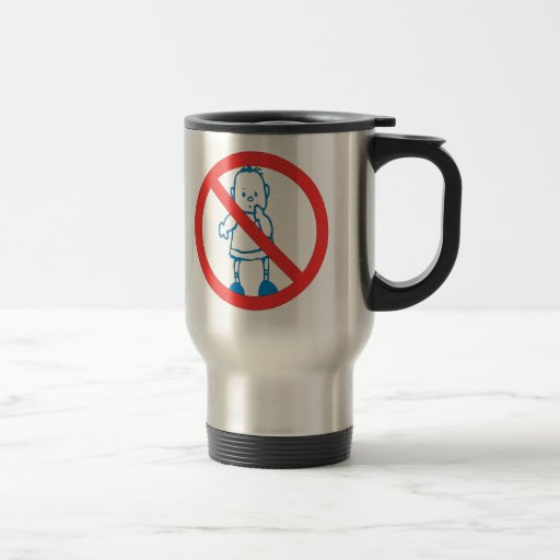 No Kids Allowed 15 Oz Stainless Steel Travel Mug