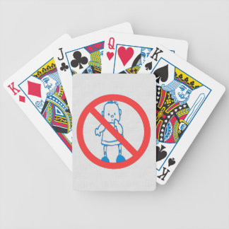 No Kids Allowed Bicycle Playing Cards