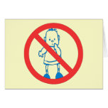 No Kids Allowed Greeting Card