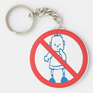 No Kids Allowed Keychain