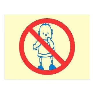No Kids Allowed Postcard