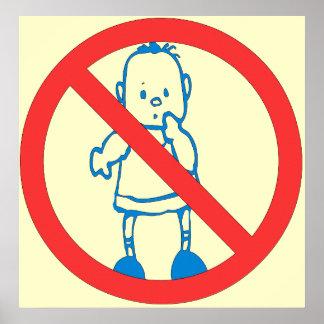 No Kids Allowed Poster