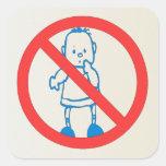 No Kids Allowed Square Sticker