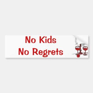 No Kids No Regrets Bumper Sticker