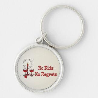 No Kids No Regrets Keychain