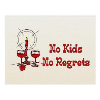 No Kids No Regrets Postcard