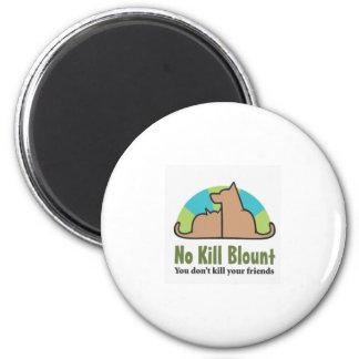 No Kill Blount Logo darker pdf 2 Inch Round Magnet