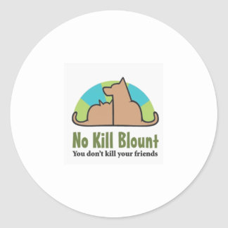 No Kill Blount Logo darker pdf Classic Round Sticker